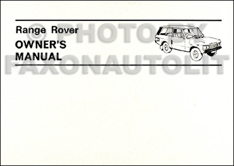 Range rover manuals