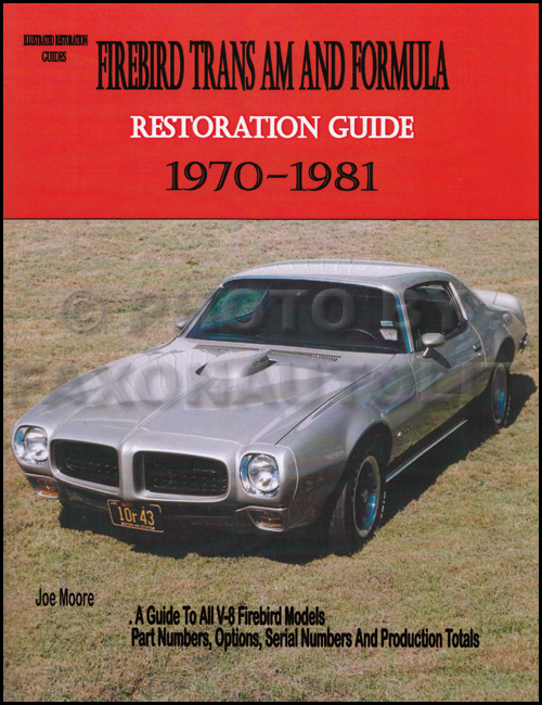 1970-1981 Pontiac Trans Am and Firebird Formula Restoration Guide by Moore