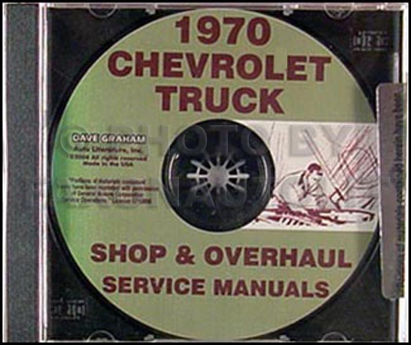 1970 Chevy Pickup & 10-60 Truck CD-ROM Shop Manual & Overhaul Manual
