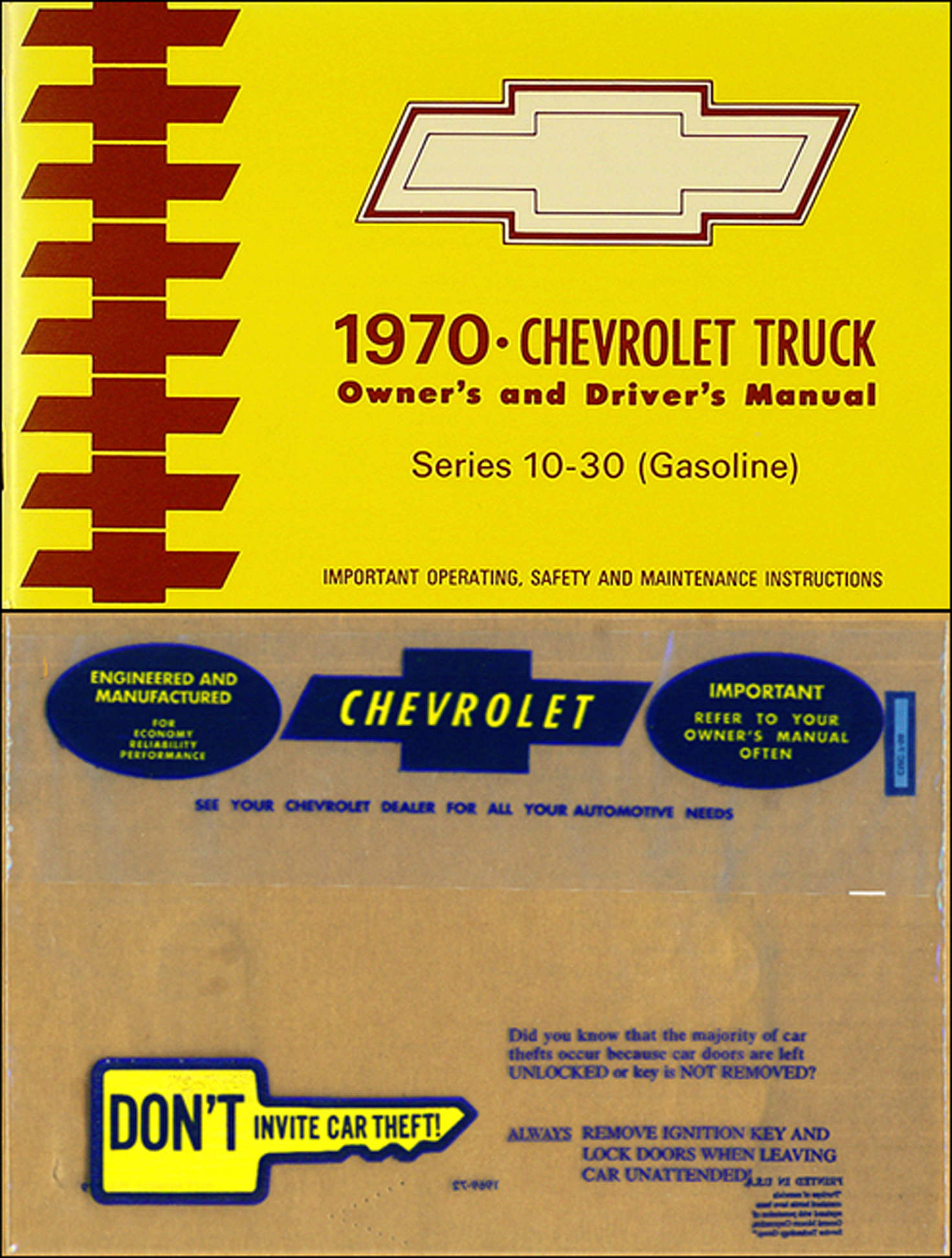 Image is loading 1970-Chevy-Truck-Owners-Manual-with-Envelope-70-