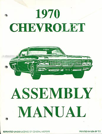 1970ChevyCarfaim 1970 chevy cd shop, overhaul & body manuals plus parts book  at fashall.co