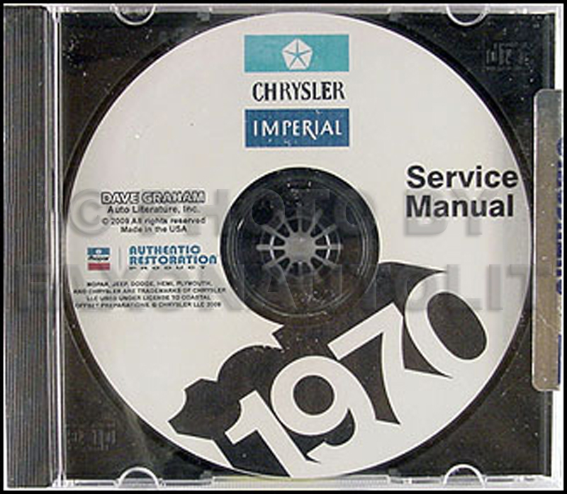 1970 Chrysler Repair Shop Manual On CD For Imperial