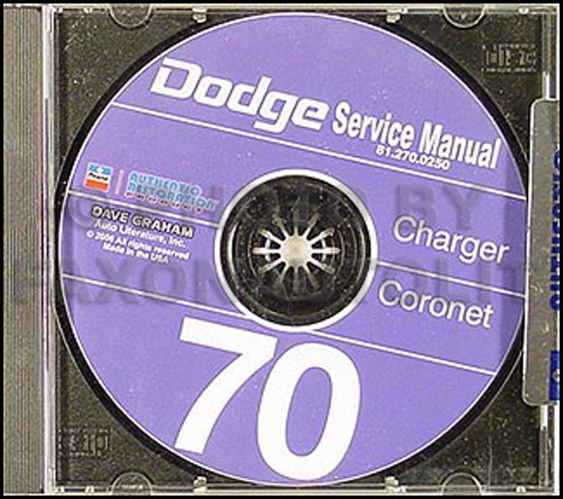1970 Dodge Charger And Coronet Service Manual Reprint