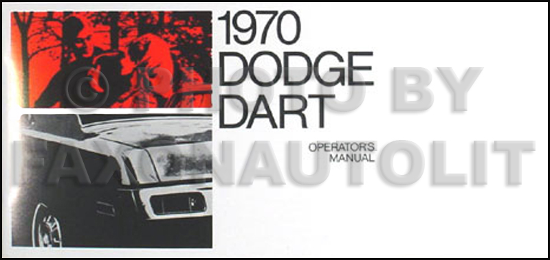 1970 dodge dart wiring diagram manual reprint 1970 dodge dart reprint owner s manual 70