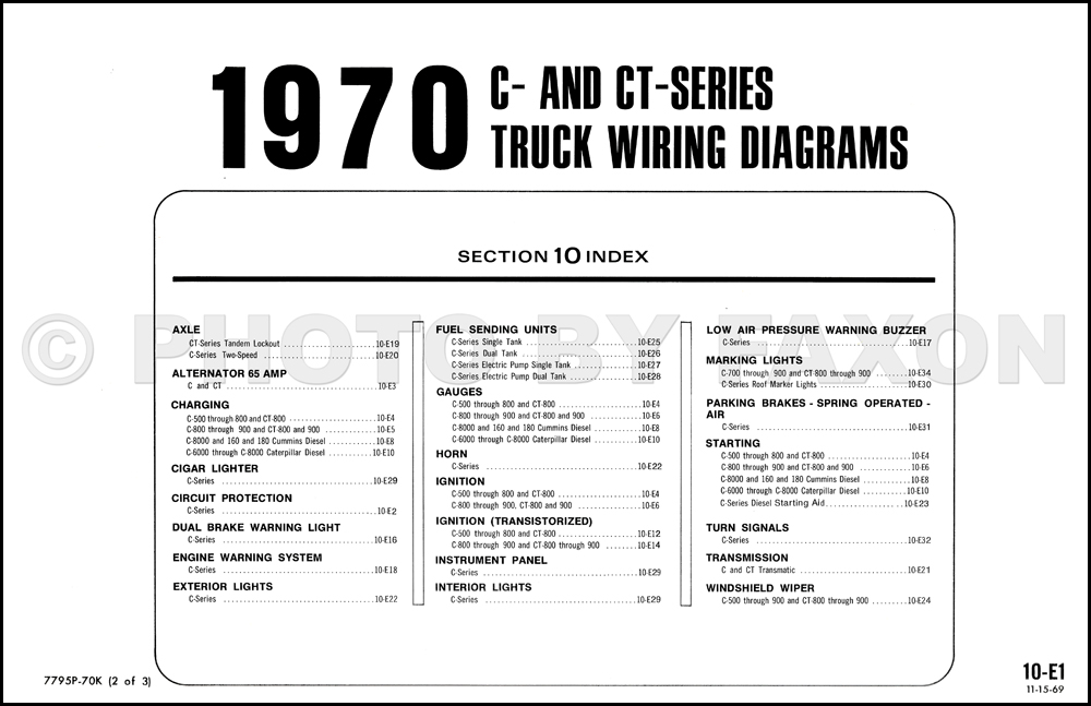 1970 ford c series truck foldout wiring diagram c 500. Black Bedroom Furniture Sets. Home Design Ideas
