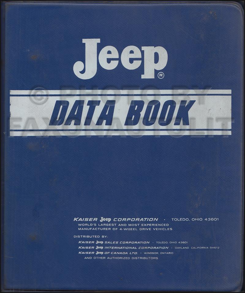 1970 Jeep Data Book Original