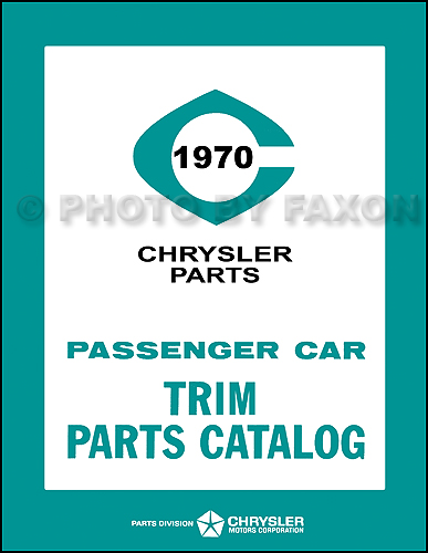 1970 Mopar Trim Catalog Reprint