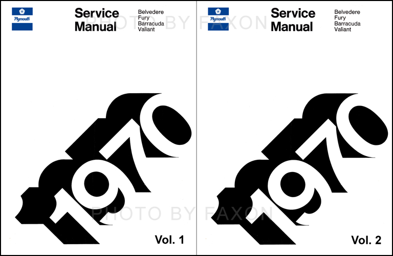 1970 Plymouth Shop Manual Reprint 2 Volume Set