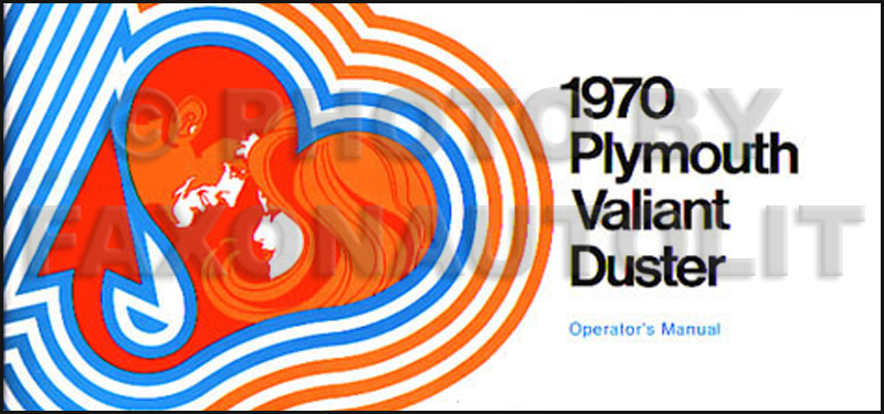 1970 plymouth duster & valiant wiring diagram manual reprint,