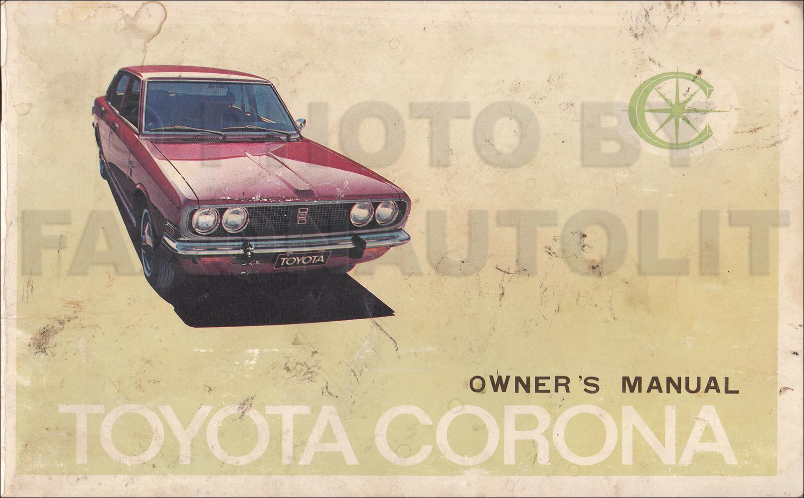 mid 1970 toyota corona owner s manual original rt83 rh faxonautoliterature com 1972 Toyota Corona 1972 Toyota Corona