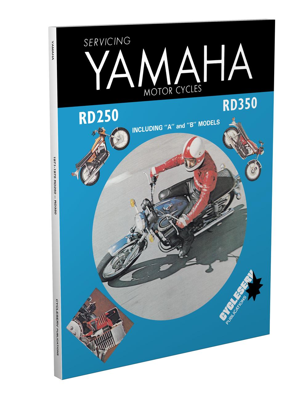 1971 1975 Yamaha Cycleserv Repair Shop Manual Motorcycle Rd250 Rd350 Rd200 Wiring Diagram 1974 1976 Rd125