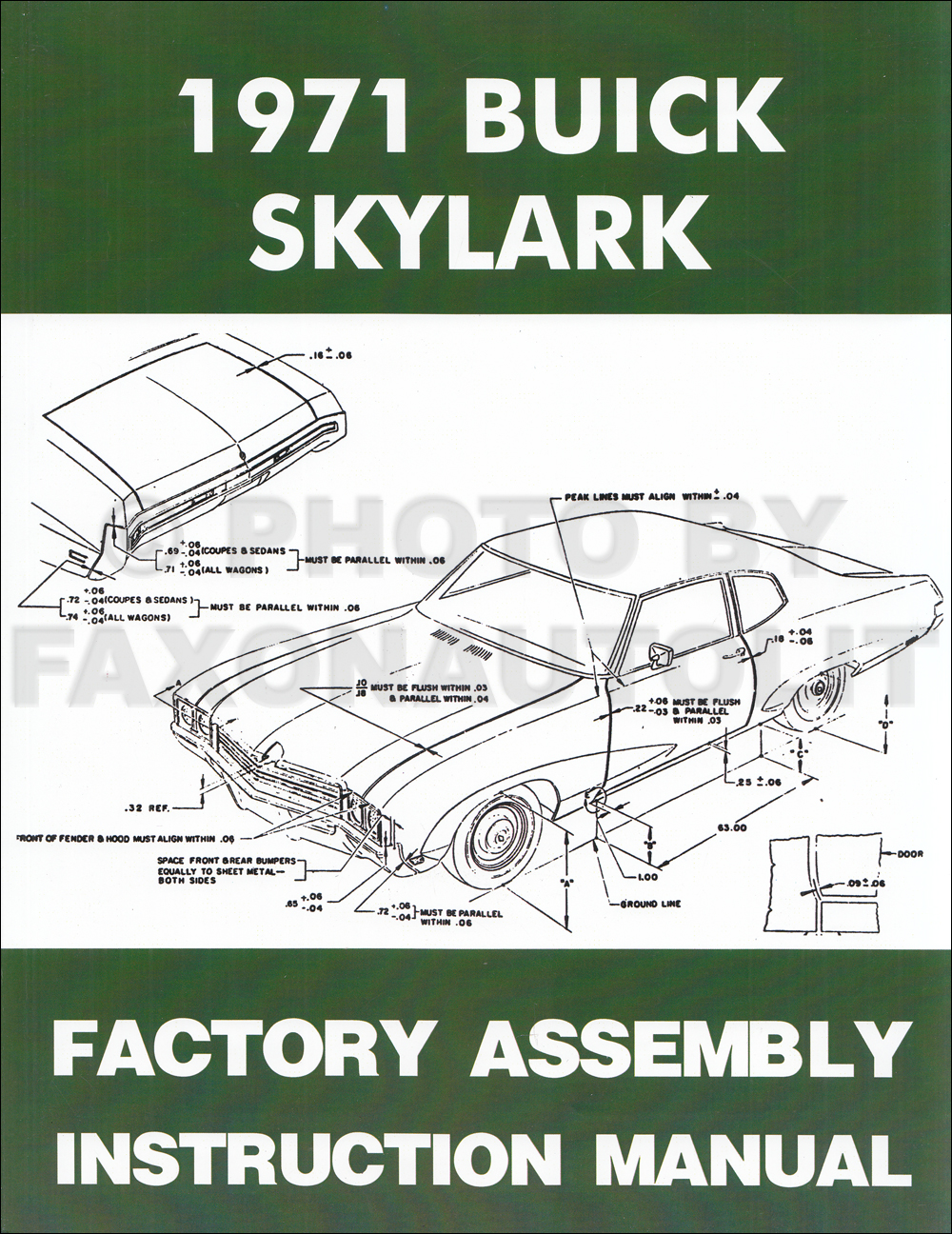 1971 Buick Assembly Manual Reprint Skylark Gran Sport Gs