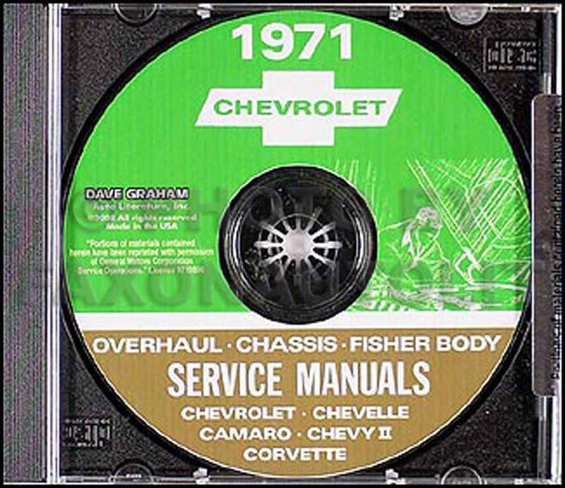 1971 Chevy CD-ROM Shop, Overhaul, & Body Manual