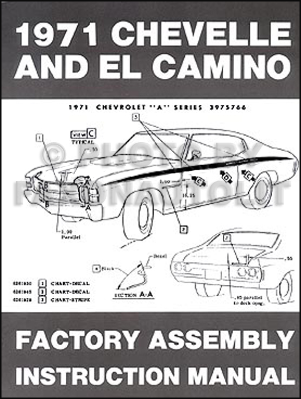 1971 chevelle el camino monte carlo gmc sprint assembly manual reprint1971 Chevelle El Camino Wiring Diagram #13