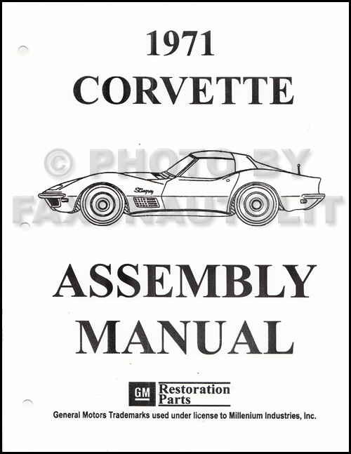 1971 Corvette Factory Assembly Manual Reprint