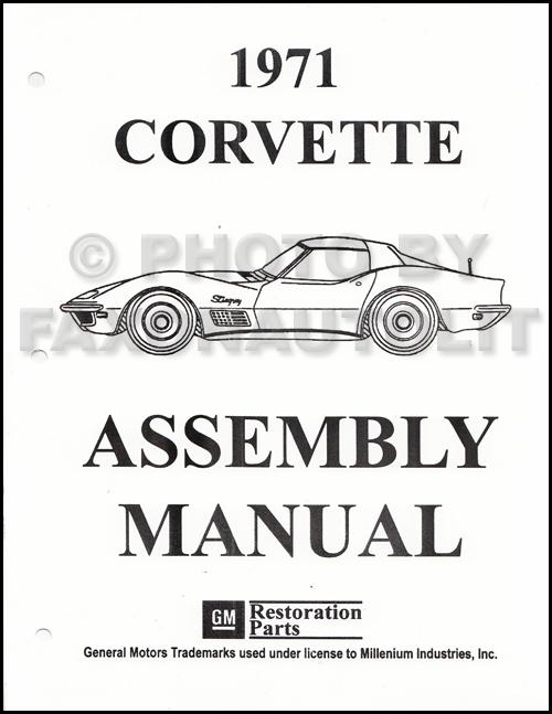 1971 Corvette Factory Assembly Manual Reprint
