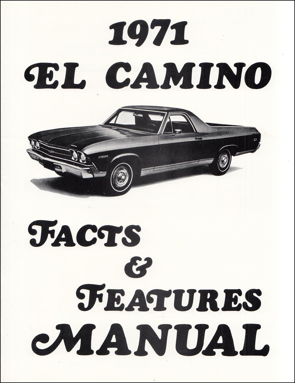 1971 Chevelle Wiring Diagram Manual Reprint Malibu, SS, El Camino