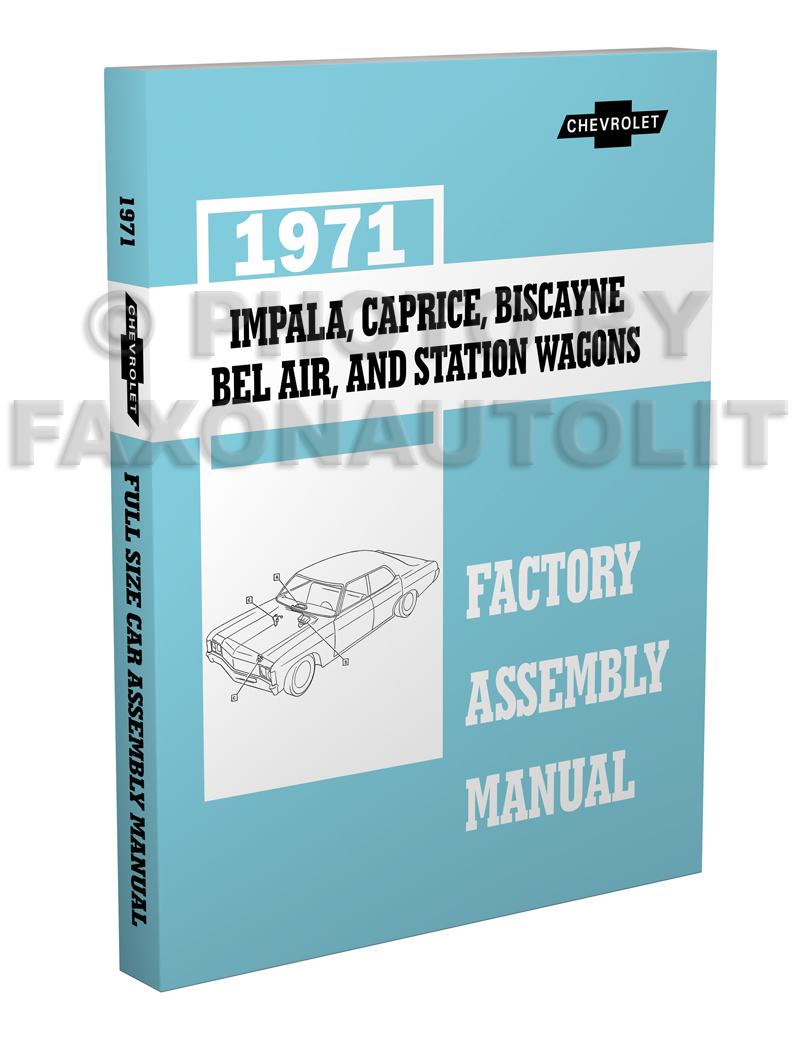 1971 Chevy Car Wiring Diagram Reprint Impala Caprice Bel ...