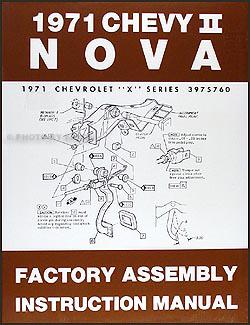 1971 chevy nova wiring diagram manual reprint. Black Bedroom Furniture Sets. Home Design Ideas