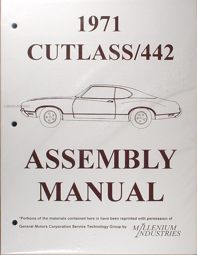 1971 Oldsmobile Assembly Manual Reprint Cutlass 442 S Supreme F-85