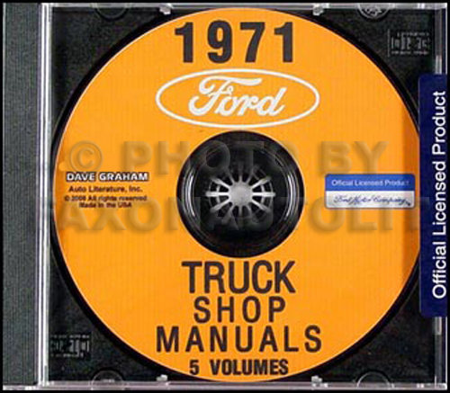 1971 ford pickup and truck wiring diagram original f100 f250 f350 1971 ford truck repair shop manual set on cd rom