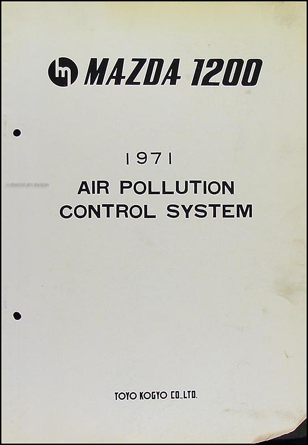 1971 mazda 1200 air pollution control system original. Black Bedroom Furniture Sets. Home Design Ideas