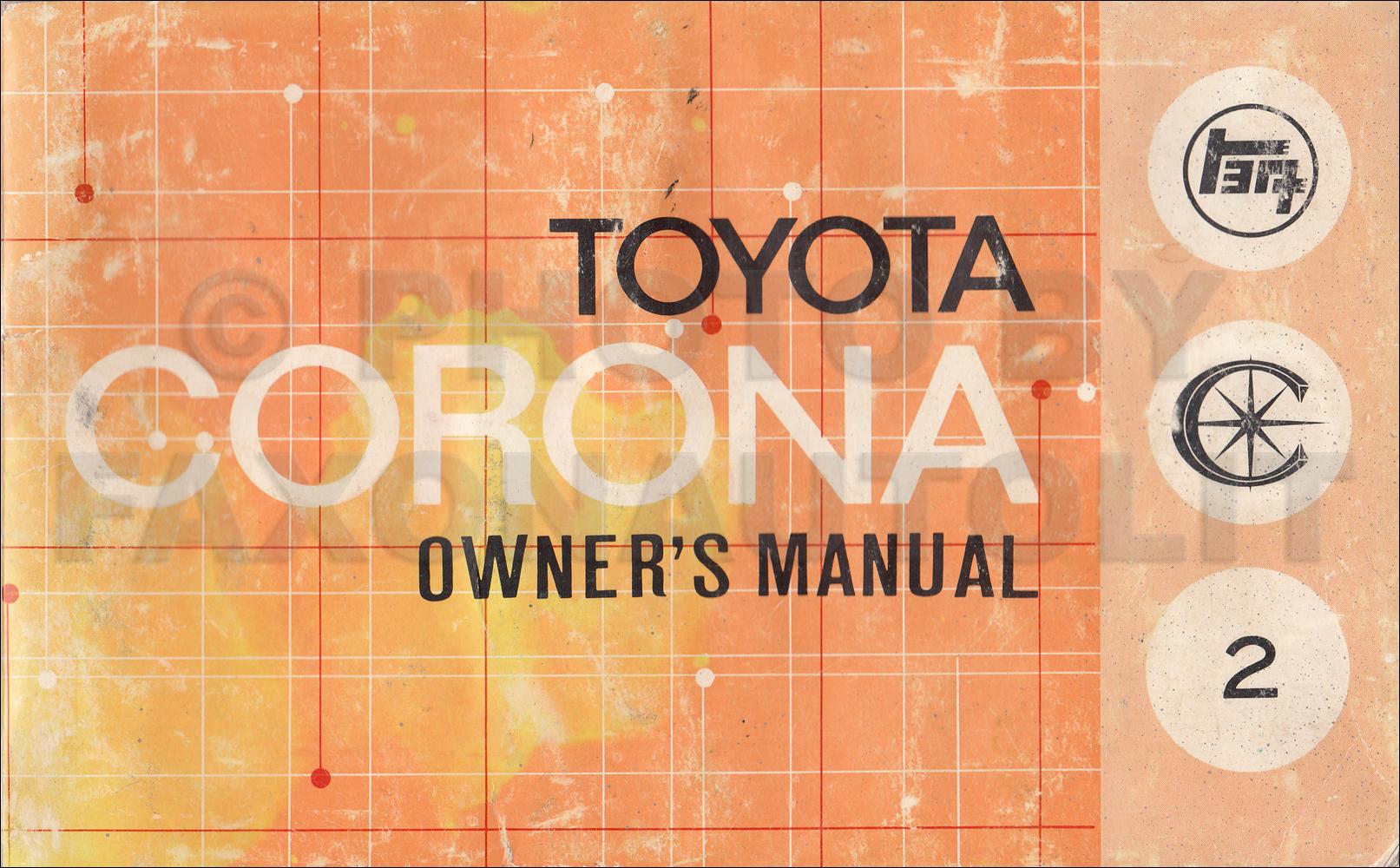1971 toyota corona owner's manual original rt83 rt93