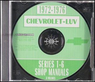 1972-1977 Chevrolet Luv Shop Manual CD-ROM