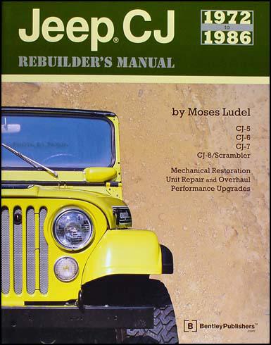 1972-1986 Jeep CJ Rebuilder's Manual CJ-5,CJ-6,CJ-7, CJ-8 Scrambler
