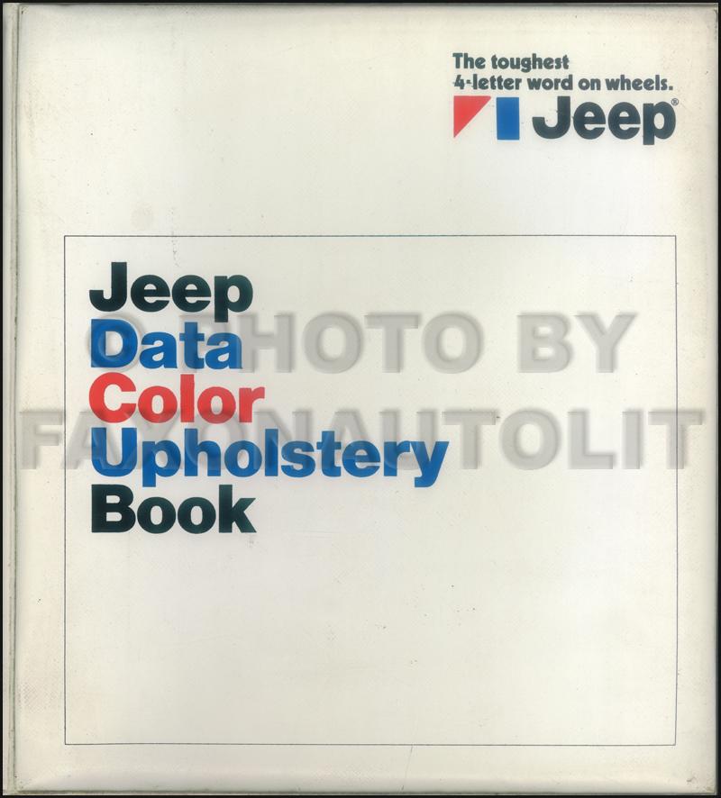 1972 Jeep Color & Upholstery Dealer Album/Data Book Original