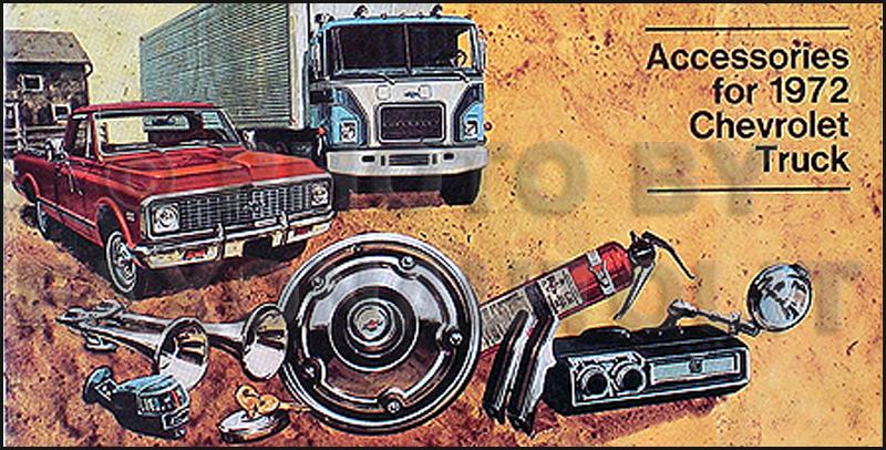 1972 Chevrolet Truck Accessory Catalog Set Chevy Pickup Blazer Suburban Panel