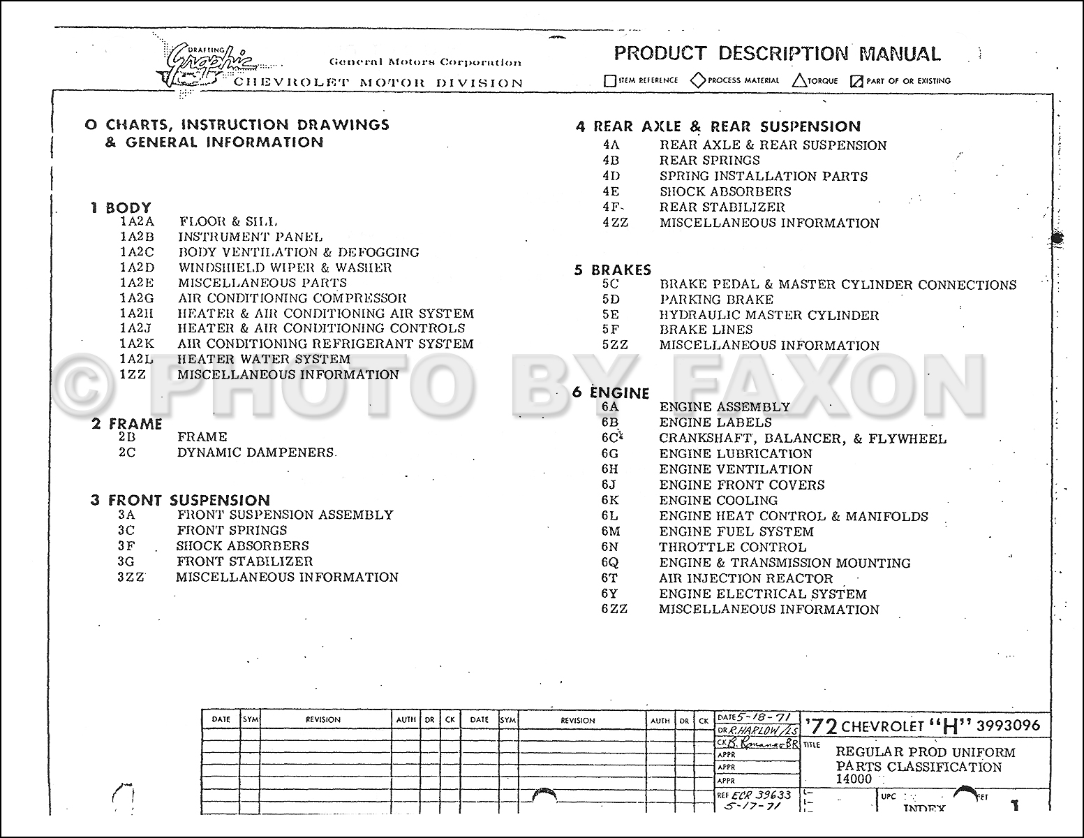 1972 Chevrolet Vega Factory Assembly Manual Reprint