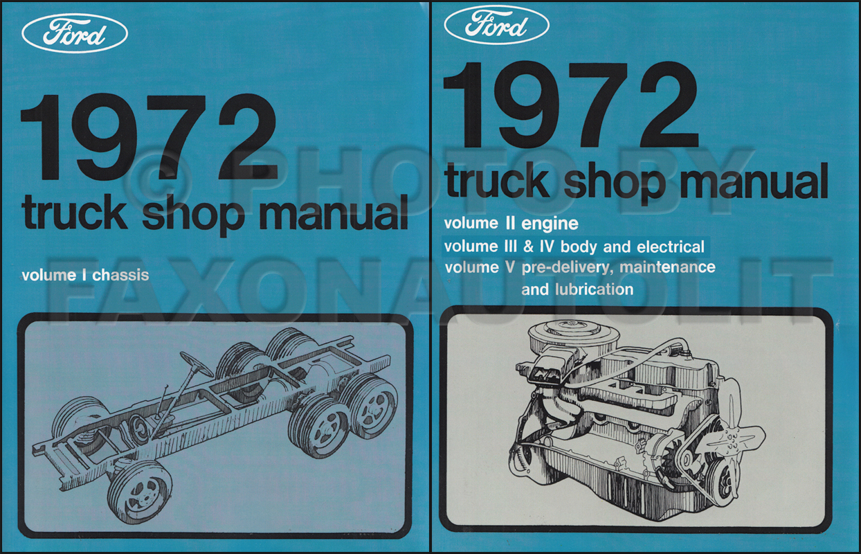 1972 Ford Truck Repair Shop Manual Set Reprint 1959 Starter Solenoid Wiring 5 Volume Original