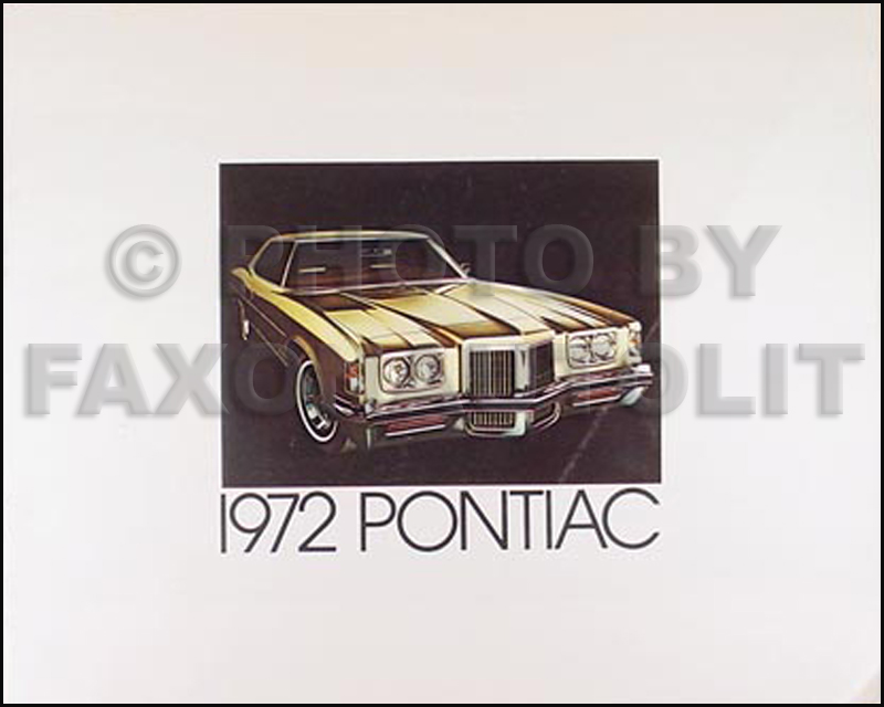 1972 Pontiac Sales Brochure Original