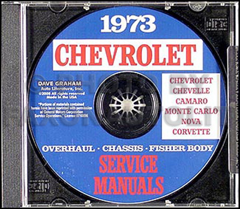 1973 Chevy CD-ROM Shop, Overhaul and Body Manual