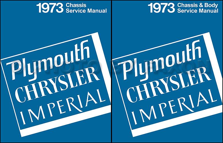 1973 Plymouth And Chrysler Repair Shop Manual Reprint 2