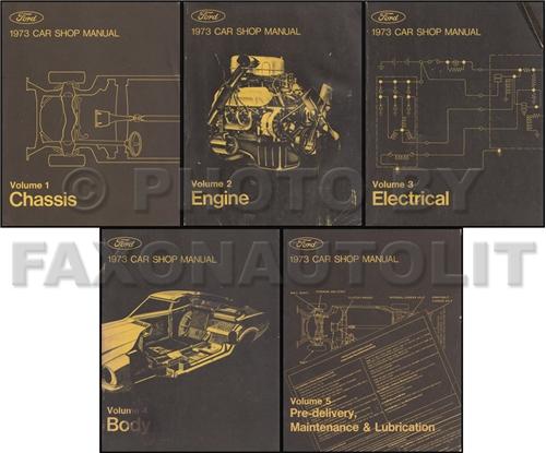 1973 Ford Lincoln Mercury All Car Repair Shop Manual Original 5 Volume Set & 1973 Ford Lincoln Mercury All Car Repair Shop Manual Original 5 ... markmcfarlin.com