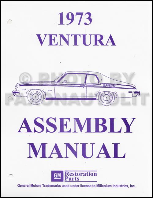 1973 pontiac ventura factory assembly manual exploded views of parts