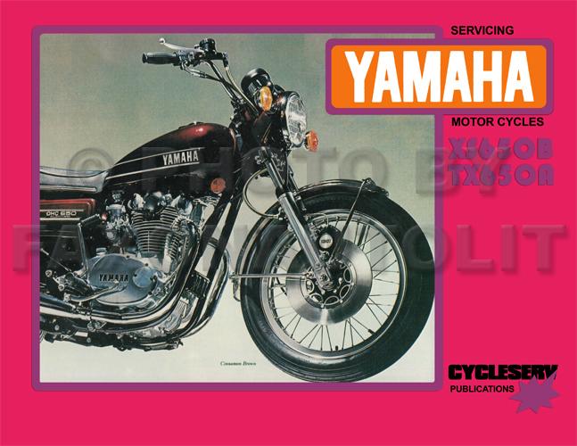 1974 1975 Yamaha Xs650 Tx650 Shop Manual Cycleserv Xs Tx