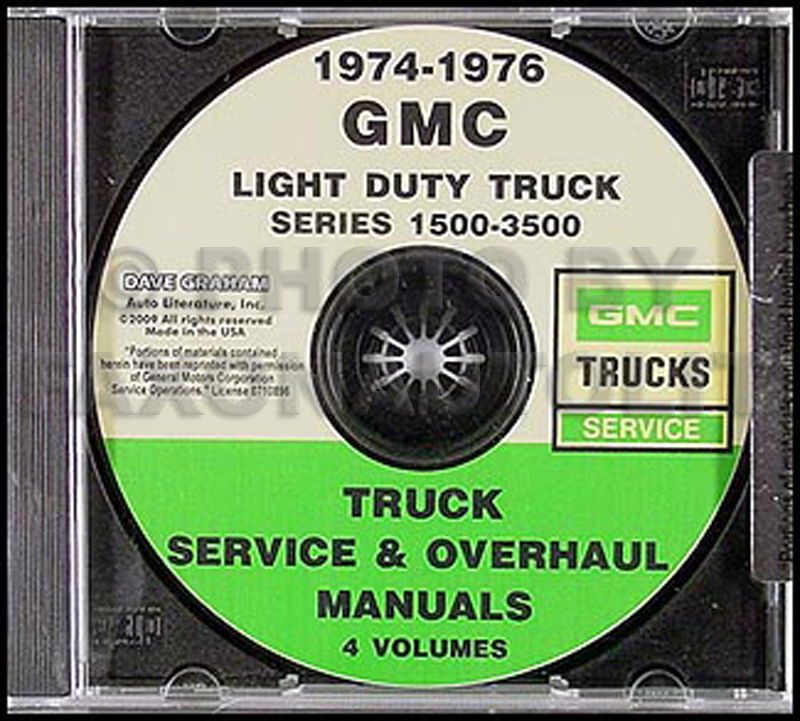 1974-1976 gmc 1500-3500 shop manuals on cd-rom