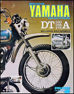 1974-1976 Yamaha DT 100/125/175 Cycleserv Shop Manual Enduro Motorcycle