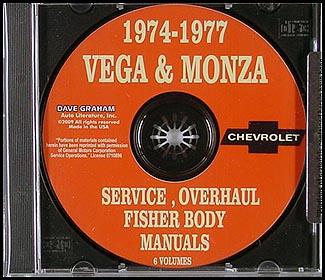1974-1977 Vega & Monza CD Shop Manuals