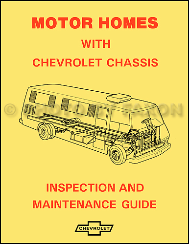 1974 Chevrolet Motor Home Chassis Owner\'s Manual Reprint