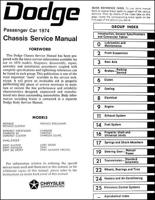 1974DodgeCarORM TOC1 2014 dodge dart wiring diagram wiring diagrams  at highcare.asia