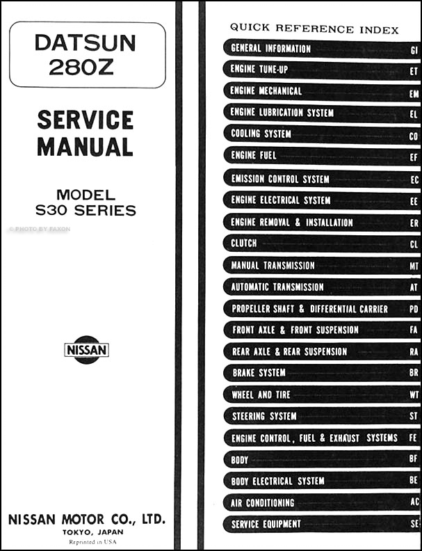 1975 76Datsun280ZORM TOC 1975 1976 datsun 280z repair shop manual original 1976 280z wiring diagram at bayanpartner.co