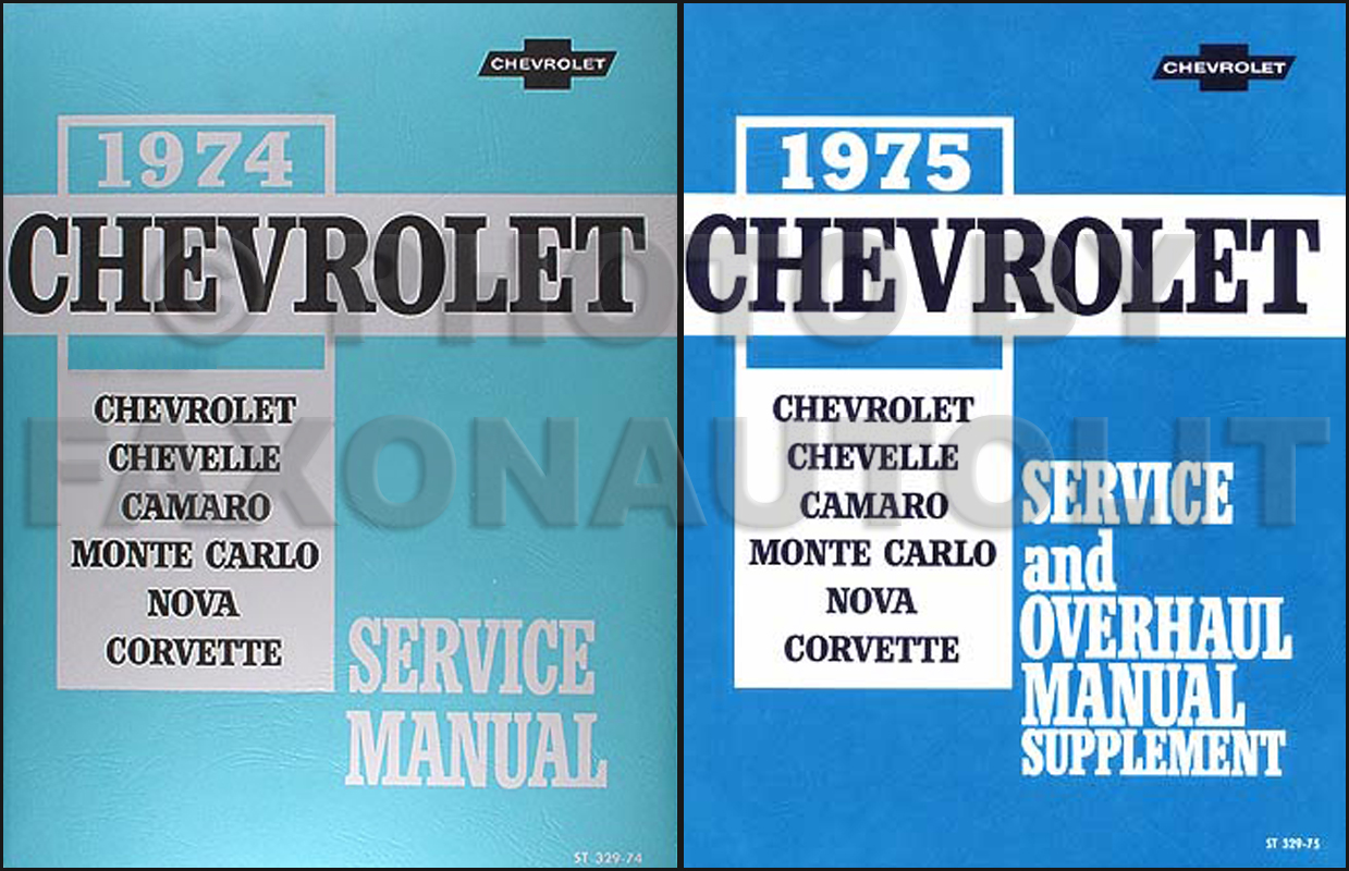 1975 Chevrolet Shop Manual Reprint Set 75 -- All Car Models
