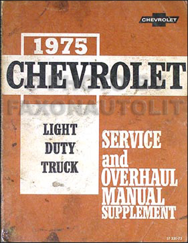 1975 Chevy Gmc Stepvan Wiring Diagram P10 P20 P30 P1500