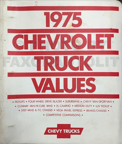 1975 Chevrolet 1030 Repair Shop Manual for    Chevy    Pickup