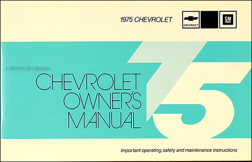 chevy car wiring diagram manual reprint impala caprice bel air 1975 impala caprice bel air owner s manual reprint