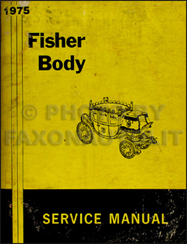 1975 Chevy Body Repair Shop Manual Original